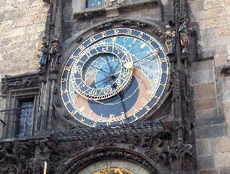 The wonderful astronomical clock in Prague