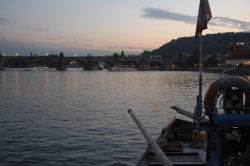 Vltava - the beautiful river runs through Prague